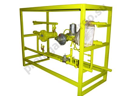 ГРУ на раме устанавливаются в утеплённых помещениях (помещение котельной, кирпичная ГРП и т.д. Конструкция ГРУ.