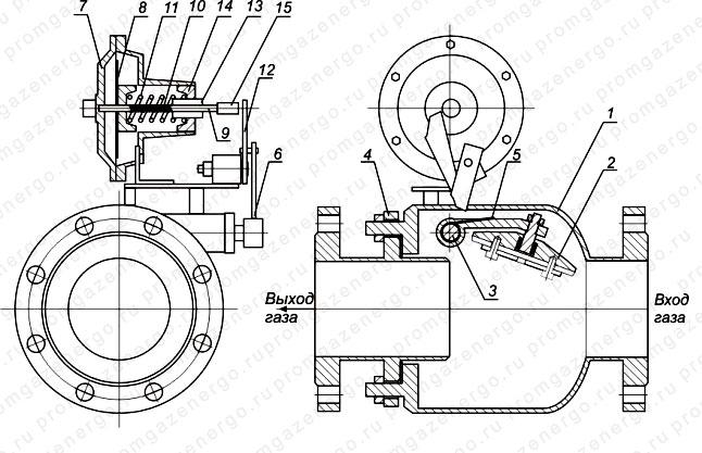 Схема клапана КПЗ