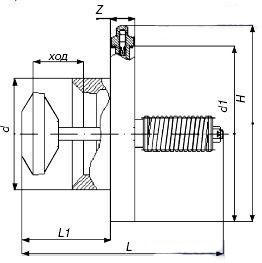 Схема клапанов термозапорных КТЗ-001 межфланцевых