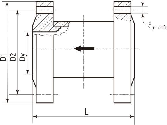 Схема клапанов термозапорных КТЗ-001 фланцевых